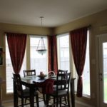 New window treatments I made, and breakfast room redo