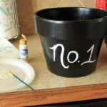 My Numbered Flower Pots!