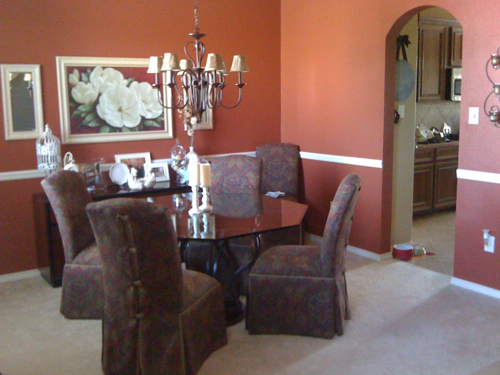 then - Dining Room Paint Colors With Chair Rail