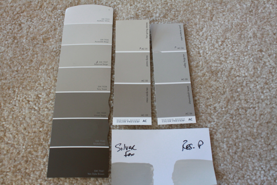at sherwin williams bm silver fox color matched at sherwin williams