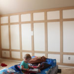 Paneled Wall Progress