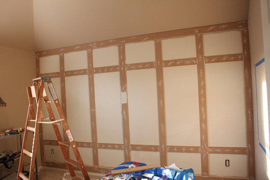 Remodelaholic diy paneled wall tutorial What to do with paneled walls