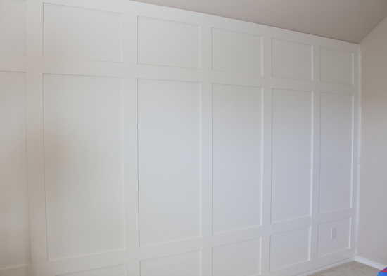 the paneled wall is finished decorchick