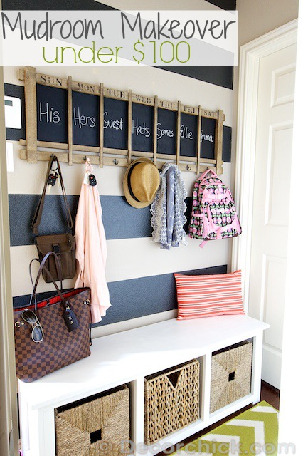Mudroom Makeover on a Budget | www.decorchick.com