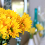 Yellow Flowers Mantel