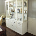 Office Hutch Makeover with Spray Paint | www.decorchick.com