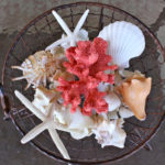 Faux Coral Outdoor Centerpiece