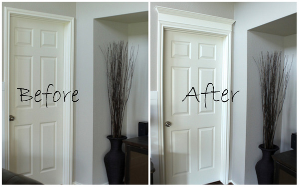 Love. & Making Your Doors Pretty With Molding (and a How-to) - Decorchick! ® Pezcame.Com