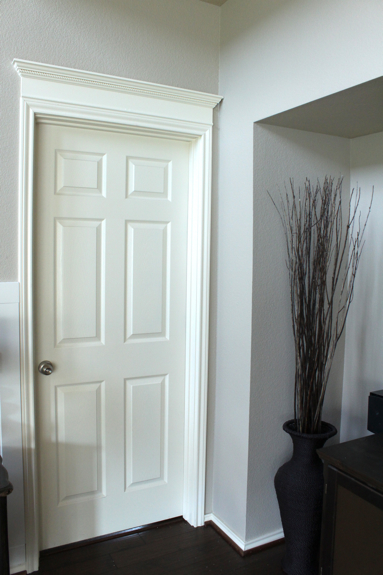 making your doors pretty with molding and a how to