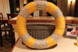 Mustard Yarn Wreath