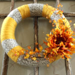A Pretty Yarn Wreath