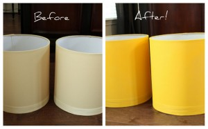 Yellow Lamp Shades