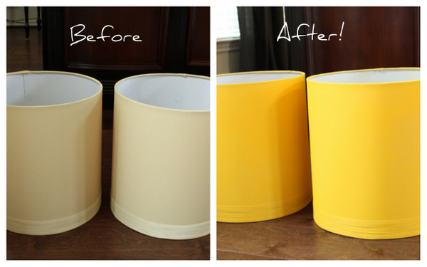 Meet My New Yellow Lamps {A Spray Paint Project} - Decorchick! ®