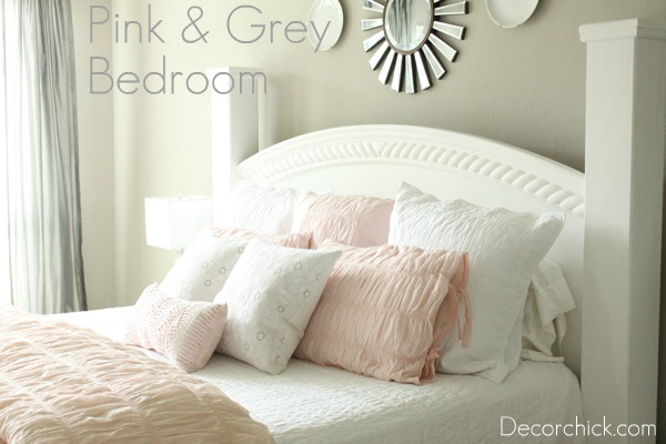 Our New White, Pink, and Grey Bedroom - Decorchick!