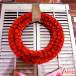 A Handmade Paper Rose Wreath
