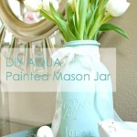 DIY Aqua Painted Mason Jar