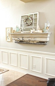 beachy mantel decor