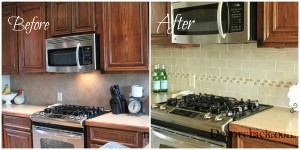 Before and After Backsplash
