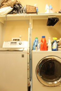 dirty laundry room