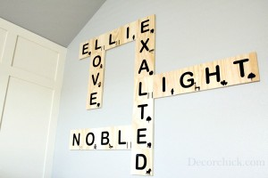 Scrabble wall art