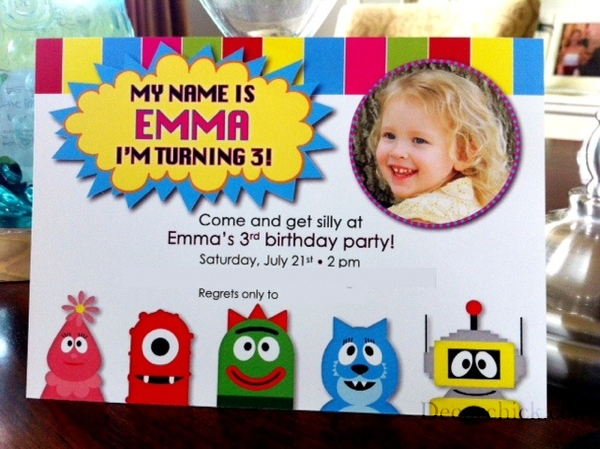 an awesome yo gabba gabba party - decorchick! ®, Wedding invitations