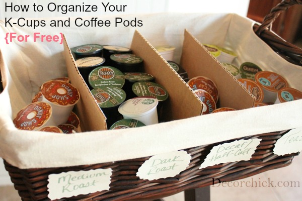 How To Organize Your K Cups And Coffee Pods For Free