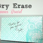 Dry Erase Canvas Board {With An Owl}