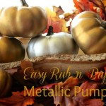 Easy Rub 'n Buff Metallic Pumpkins