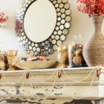 The Gold and Glam Fall Mantel