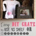 Easy DIY Crate Shelf or Shadowbox