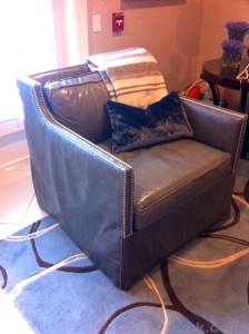Grey Leather Chair