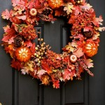 How To Make An Easy Wreath {Fall Front Door Wreath}