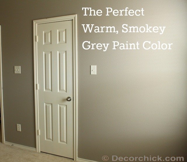 Shades of Grey {I Found The Perfect Smokey Grey Paint Color}