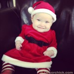 The Cutest Little Santa You Ever Did See
