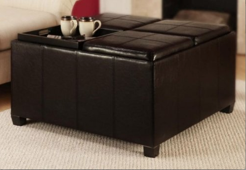 ... games and toys, throw pillows and more in this sturdy, oversized ottoman  in Espresso. This one piece can be used in so many ways: Storage, extra  seating ... - Living Room Organization And Zoostores.com Get Organized Giveaway