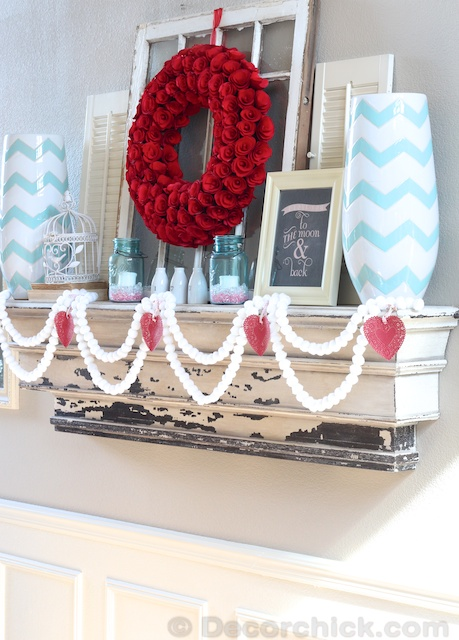 The Sweet, But Not Too Sweet Valentine's Day Mantel