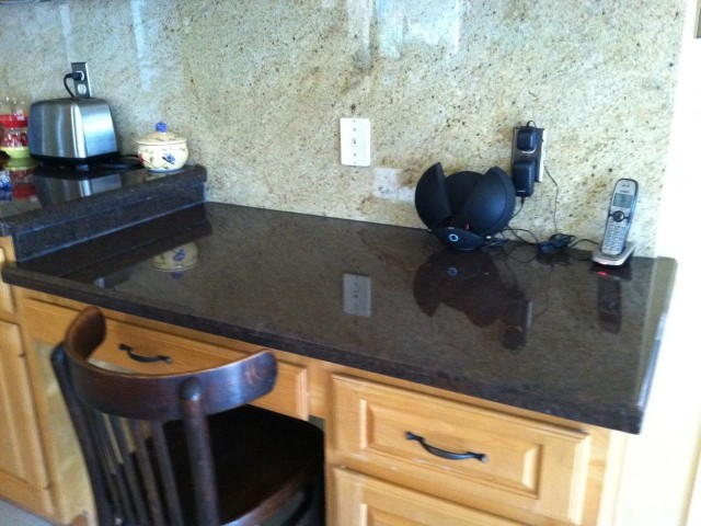 Granite Kitchen Desk