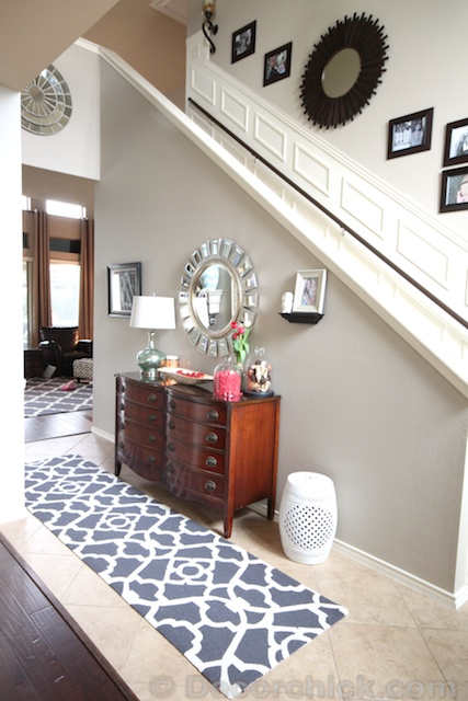 Small Foyer Rug : A small change but big impact new entry rug