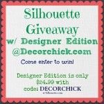 Silhouette Machine Giveaway With Designer Edition, and Other Awesomeness