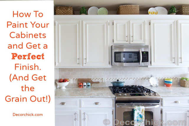 White Kitchen Oak Cabinets how to paint your cabinets like the pros, and get the grain out