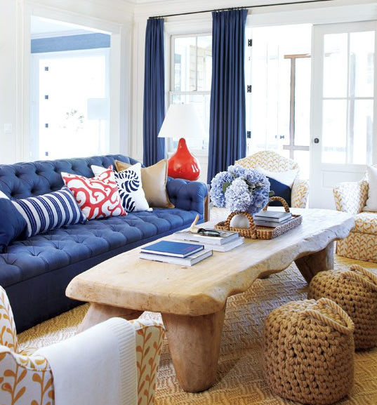 Navy And Coral Living Room Part 5