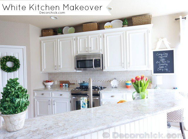 A White Kitchen Update - 1 Year Later - Decorchick! ®