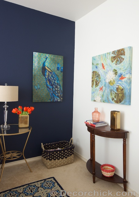 Blue Accent Wall Decorchick