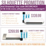 Silhouette Giveaway and Special Vinyl Promotion!