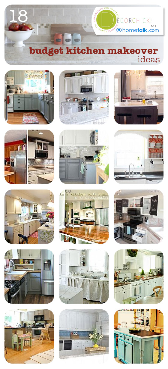 18 Budget Kitchen Makeover Ideas - Decorchick!