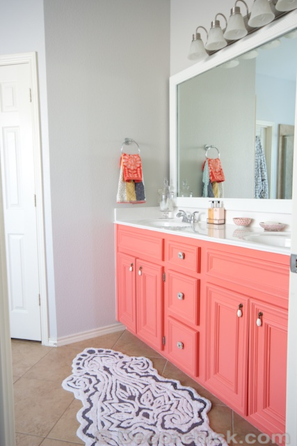 Painted Coral Vanity | www.decorchick.com