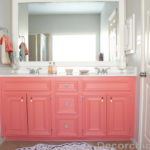 DIY Painted Coral Vanity
