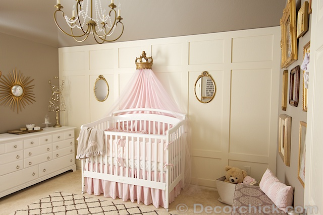 Pink and Grey Nursery | www.decorchick.com
