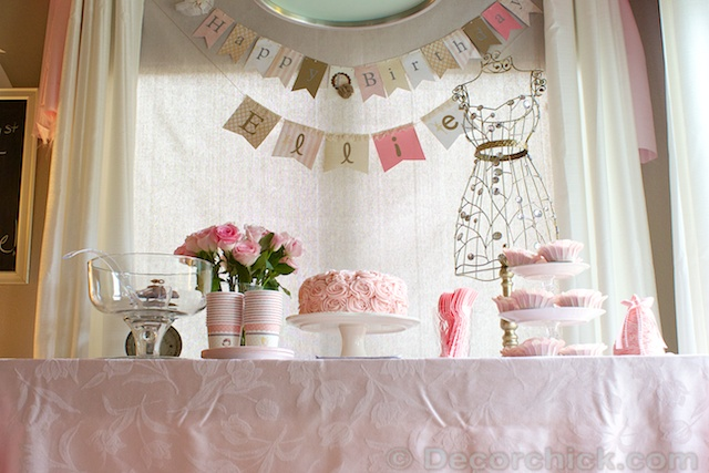 Shabby Chic Birthday | www.decorchick.com