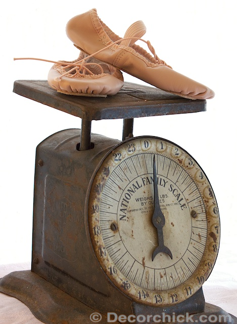 Vintage Scale and Ballerina Slippers